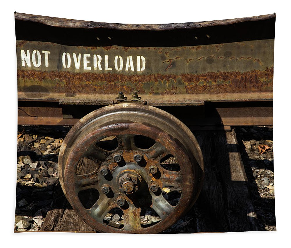 Do Not Overload Tapestry featuring the photograph Do Not Overload by Karol Livote