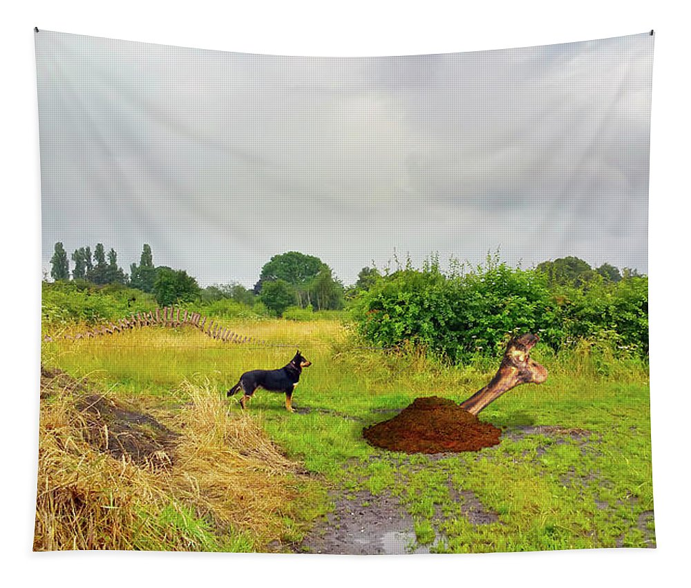 Cheshire Tapestry featuring the photograph Dog Heaven - Abbie's Edit Challenge 3 by Brian Wallace