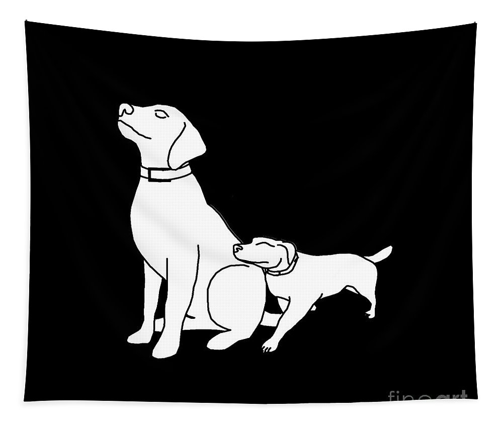Dog Tapestry featuring the digital art Dog Love Tee by Edward Fielding