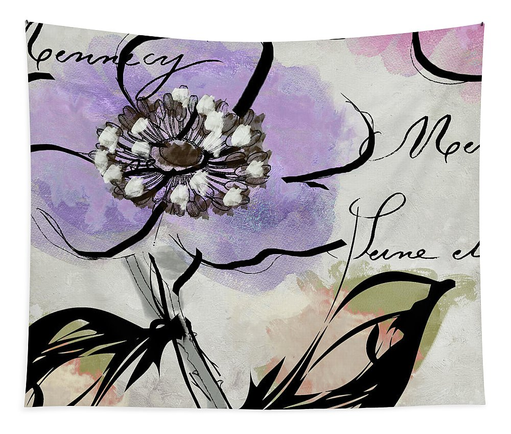 Dogwood Flowers Tapestry featuring the painting Dogwood II by Mindy Sommers