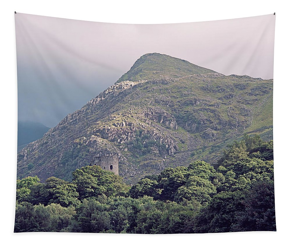 Beauty Tapestry featuring the photograph Dolbadarn Castle Close To Llanberis Pass by Monika Tymanowska