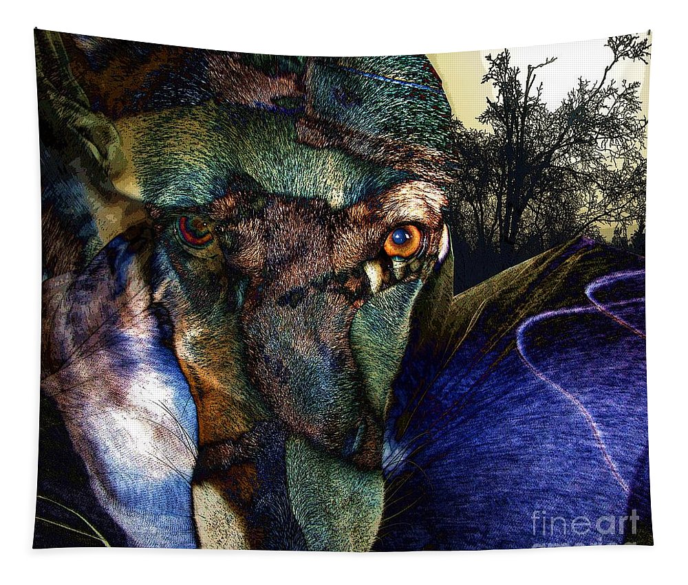 Dog Tapestry featuring the photograph Domesticated by Ron Bissett