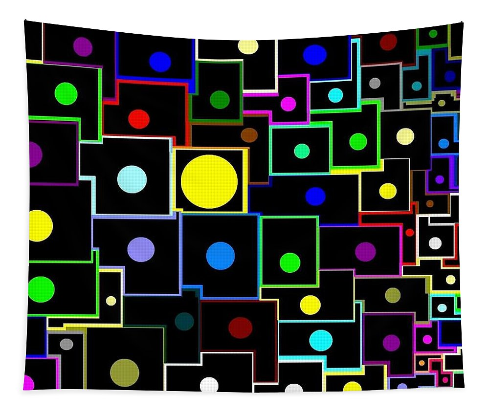Abstract Tapestry featuring the digital art Domino Effect by Will Borden