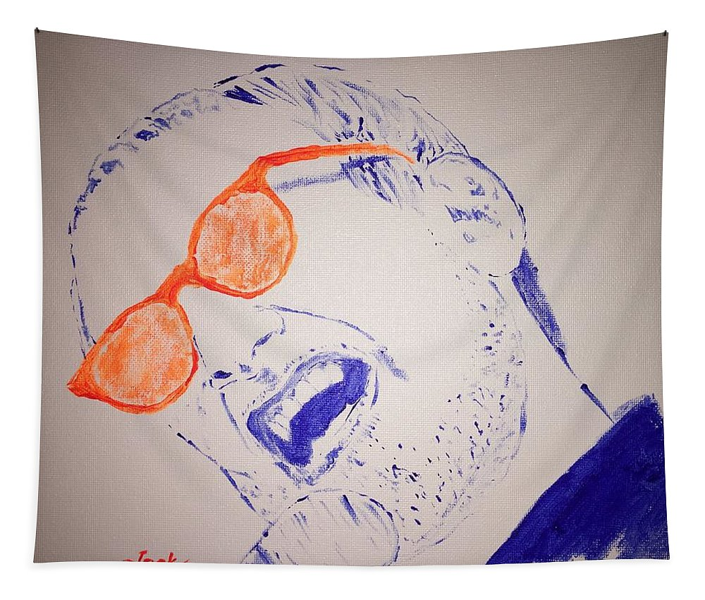 Donald Fagen Tapestry featuring the painting Donald Fagen by Jack Bunds