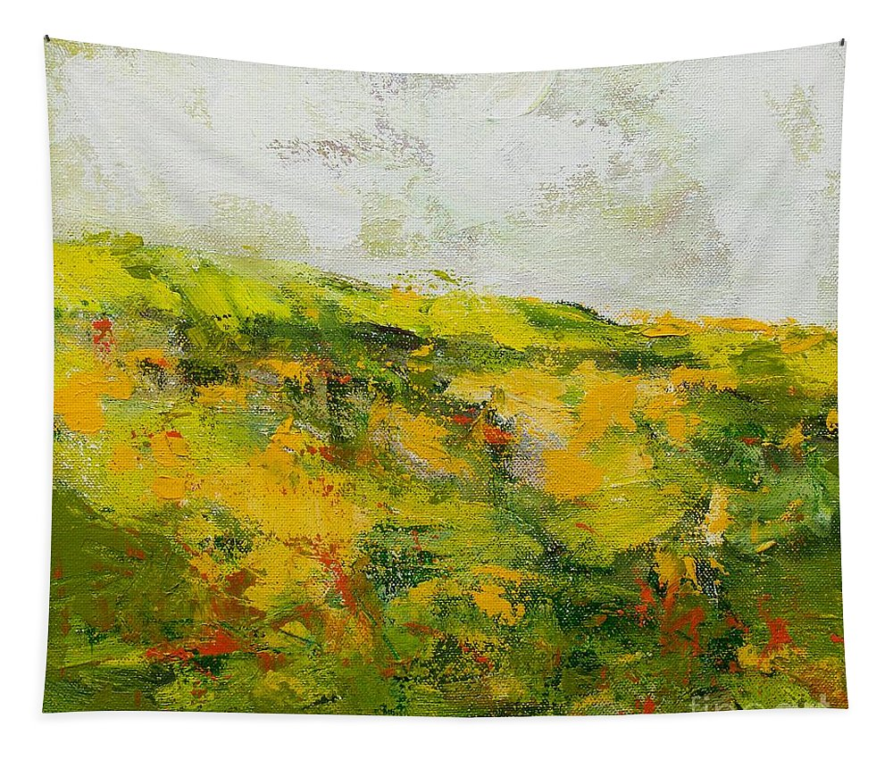 Landscape Tapestry featuring the painting Doncaster by Allan P Friedlander