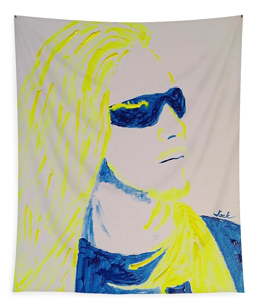 Artist Donnie Miller Tapestry featuring the painting Donnie Miller by Jack Bunds
