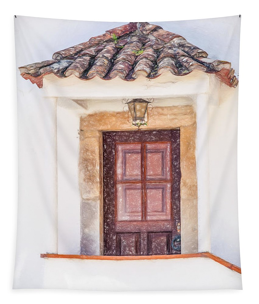 David Letts Tapestry featuring the photograph Doorway Of Portugal by David Letts