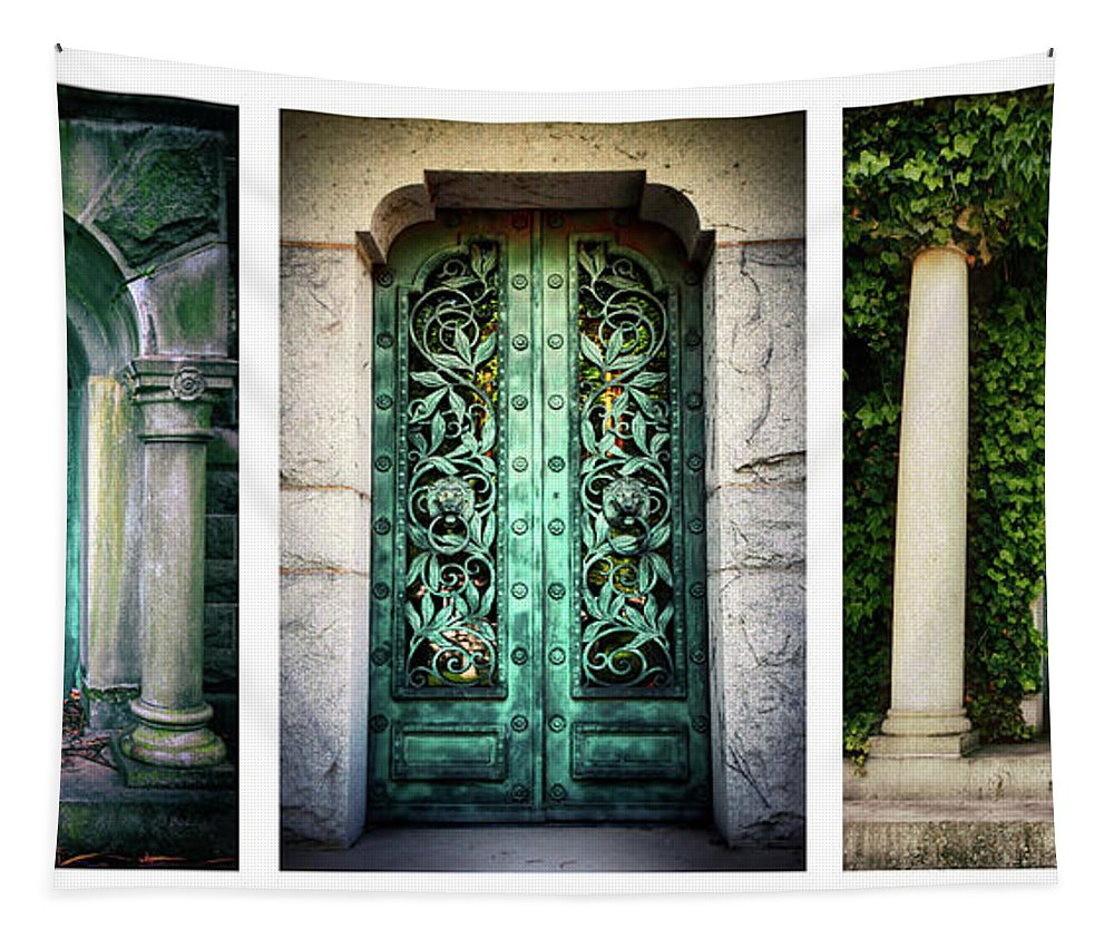 Doors Tapestry featuring the photograph Doorways Of Woodlawn by Jessica Jenney