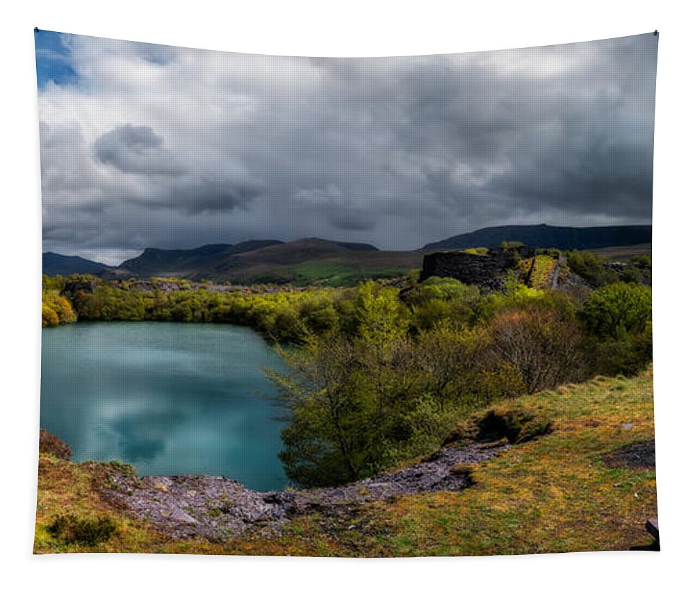Dorothea Lake Tapestry featuring the photograph Dorothea Quarry Panorama by Adrian Evans