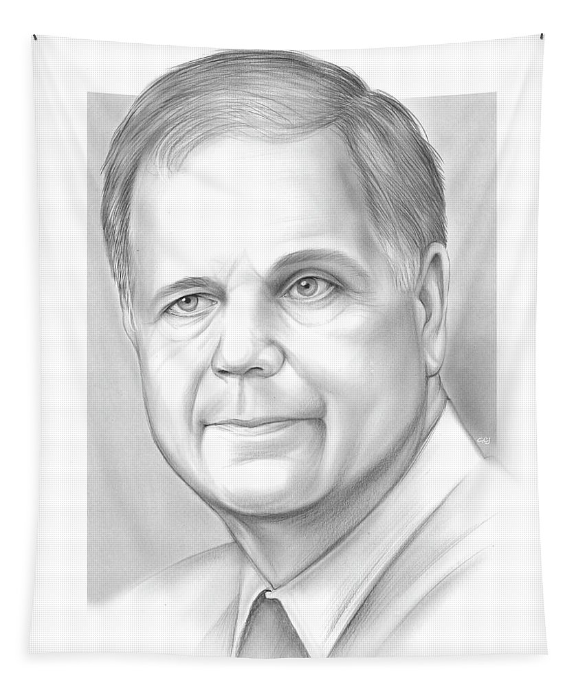 Alabama Tapestry featuring the drawing Doug Jones by Greg Joens