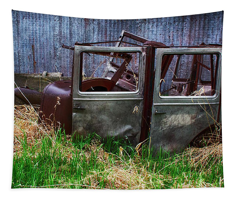 Antiques Tapestry featuring the photograph Down In The Dumps 21 by Bob Christopher
