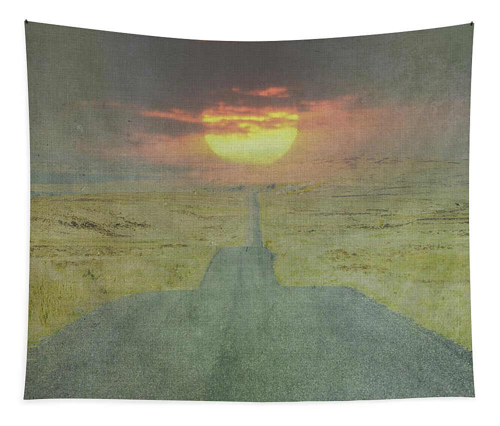 Downhill Tapestry featuring the photograph Downhill Sunset by Bill Cannon