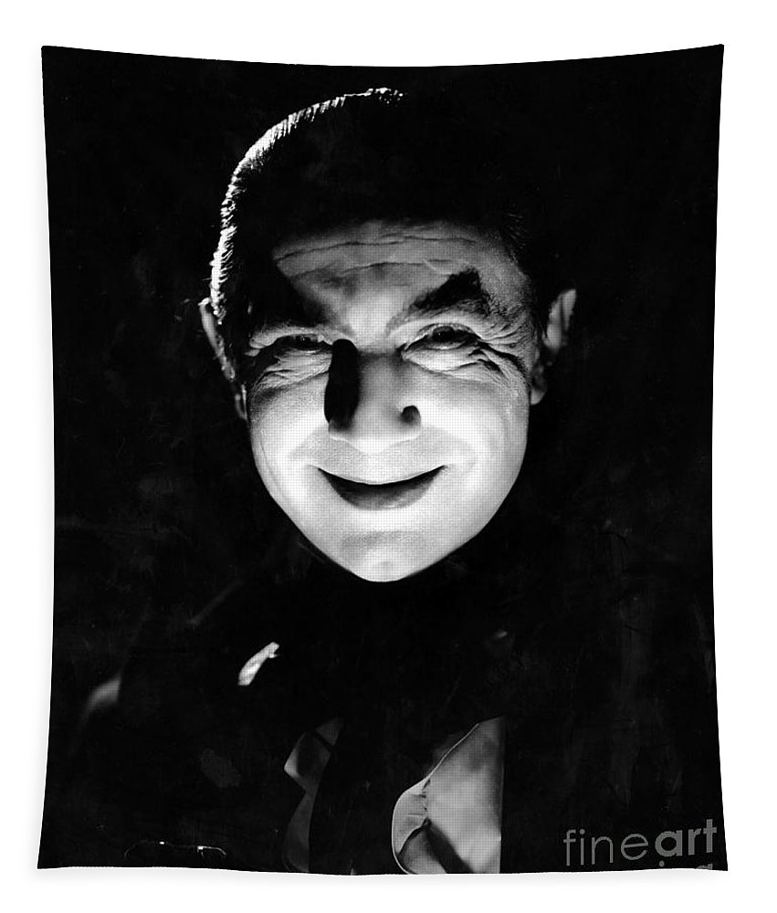 Dracula In The Shadows Tapestry featuring the photograph Dracula In The Shadows by R Muirhead Art
