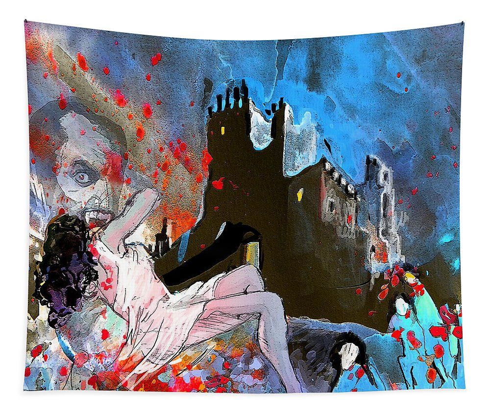 Dracula Tapestry featuring the painting Dracula by Miki De Goodaboom