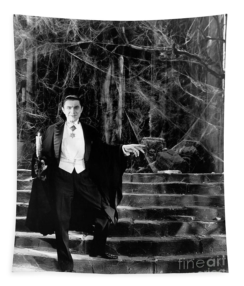 Dracula Tapestry featuring the photograph Dracula by R Muirhead Art