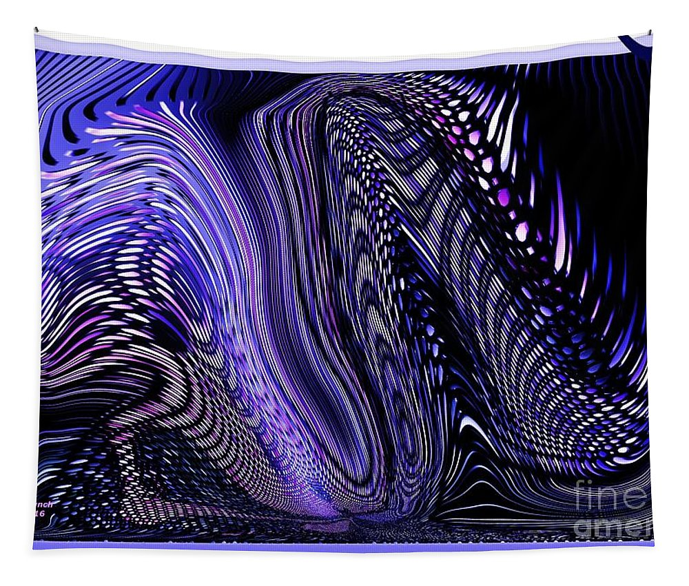 Dragon Tapestry featuring the digital art Dragon Tales by Debra Lynch