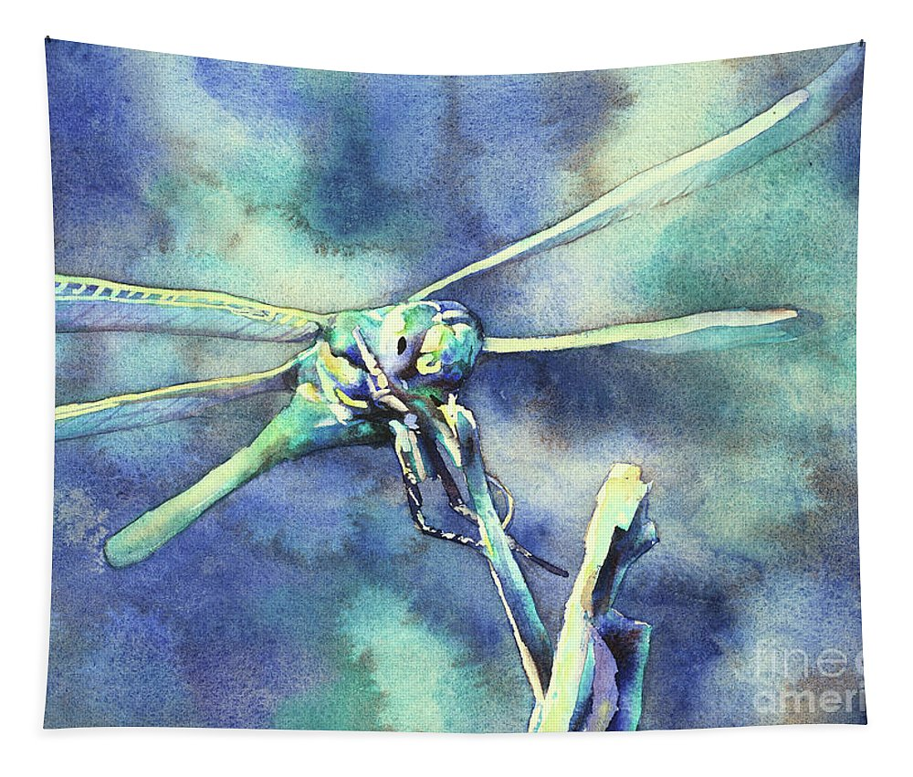 Art For House Tapestry featuring the painting Dragonfly II by Ryan Fox