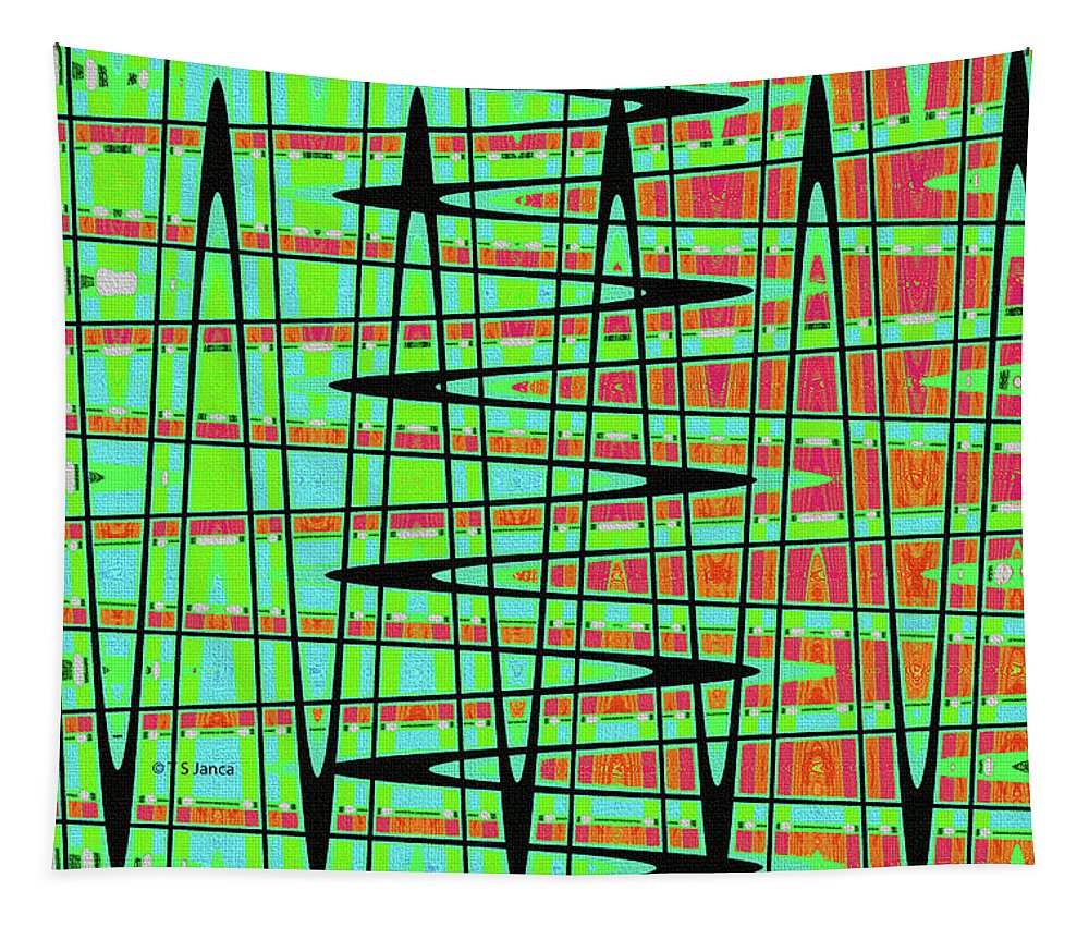 Drawing Abstract #5984wtct Tapestry featuring the photograph Drawing Abstract #5984wtct by Tom Janca