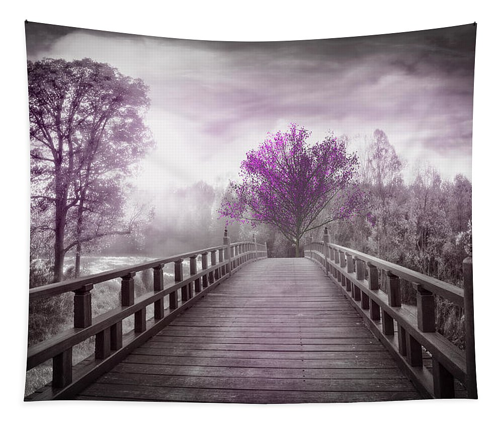 Appalachia Tapestry featuring the photograph Dreaming At Dawn In Pink by Debra and Dave Vanderlaan