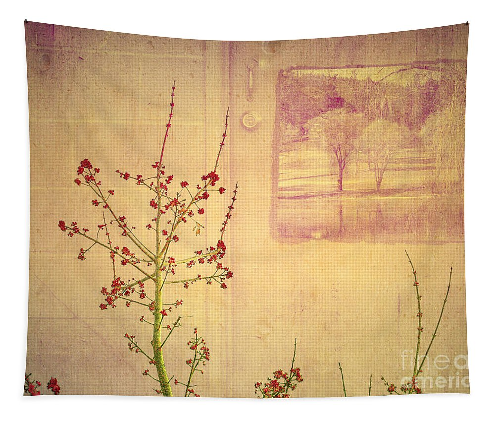 Weeds Tapestry featuring the photograph Dreaming Beyond Doors by Tara Turner