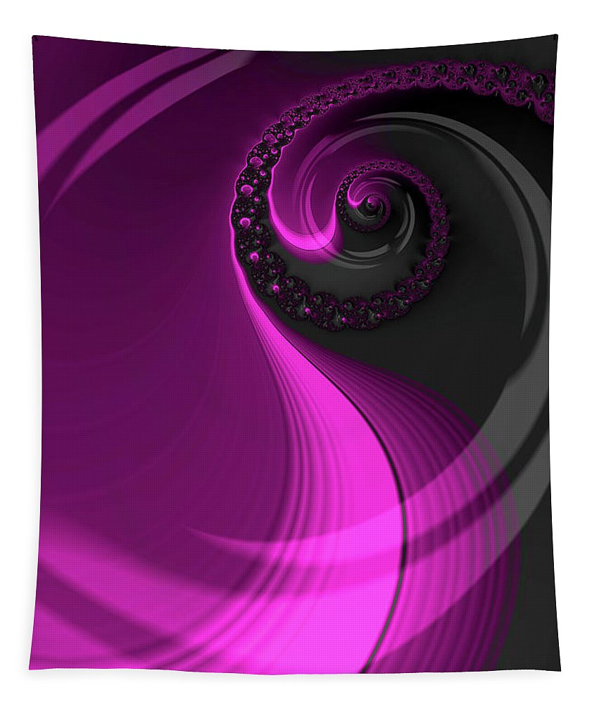 Fractal Tapestry featuring the digital art Dreaming In Purple by Steve Purnell