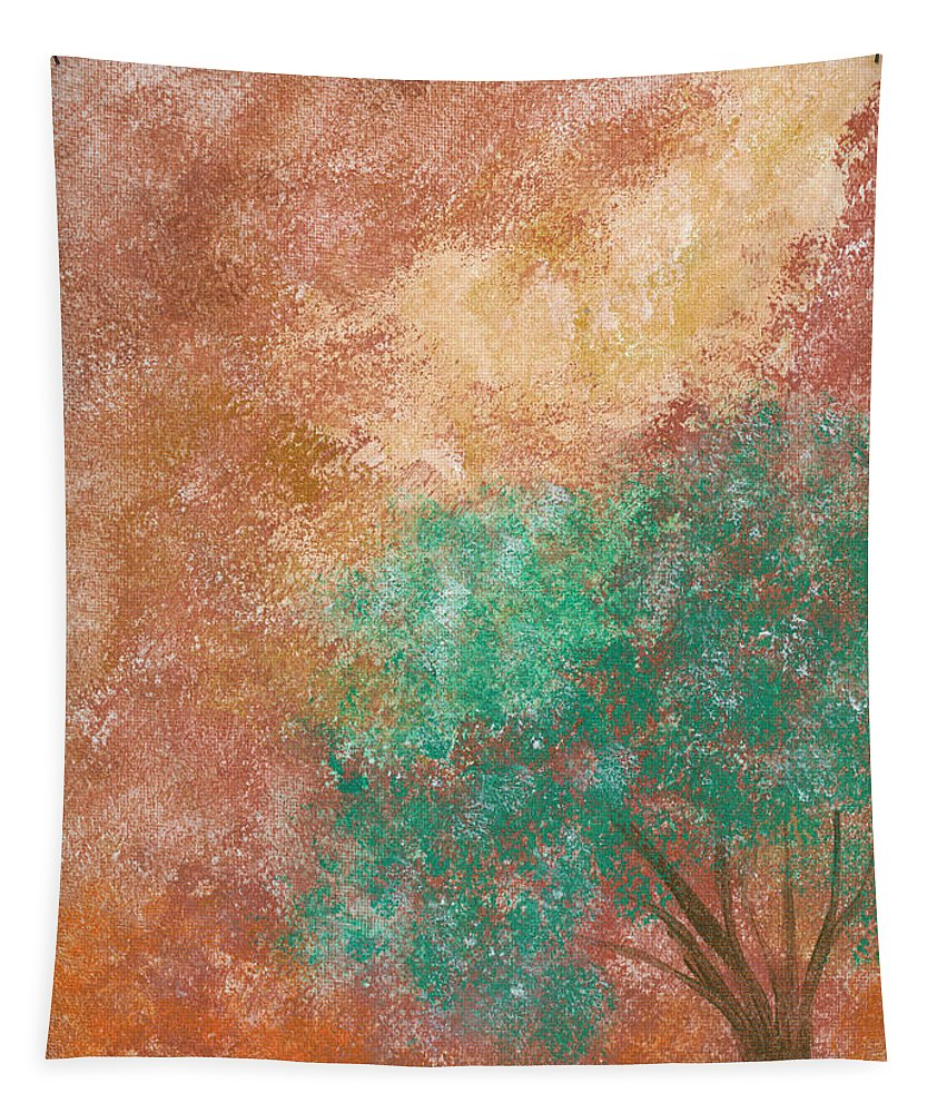 Abstract Tapestry featuring the painting Dreaming Tree by Alexis Grone
