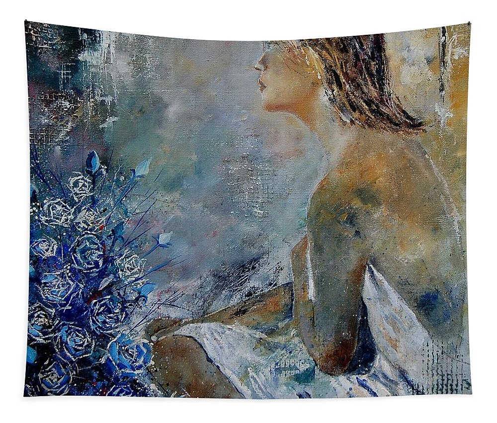 Girl Tapestry featuring the painting Dreaming Young Girl by Pol Ledent