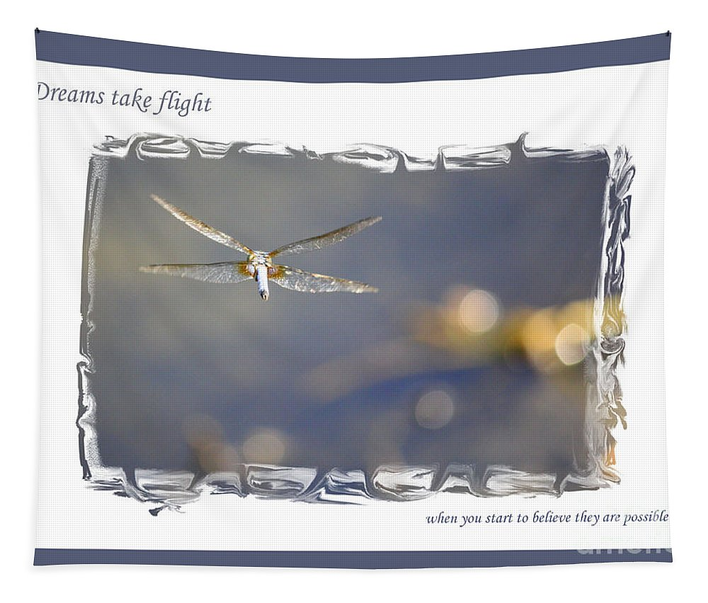 Greeting Cards Tapestry featuring the photograph Dreams Take Flight Poster Or Card by Carol Groenen