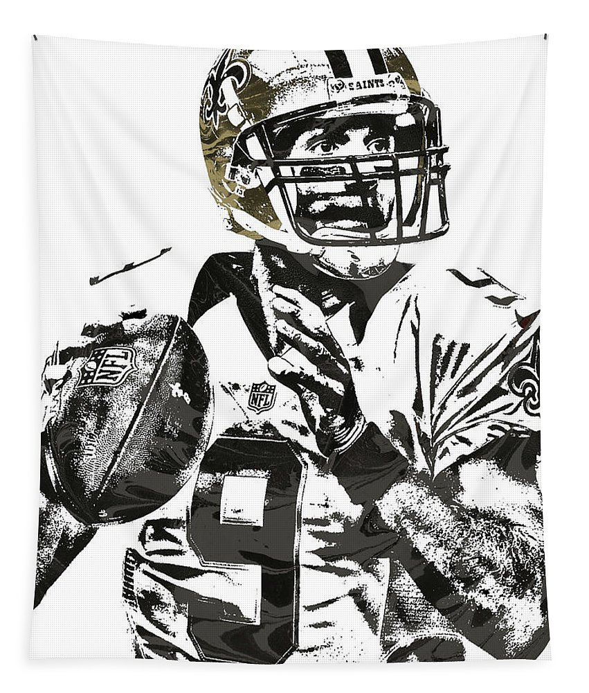 quality design 5e6d0 f9b9b Drew Brees New Orleans Saints Pixel Art 1 Tapestry