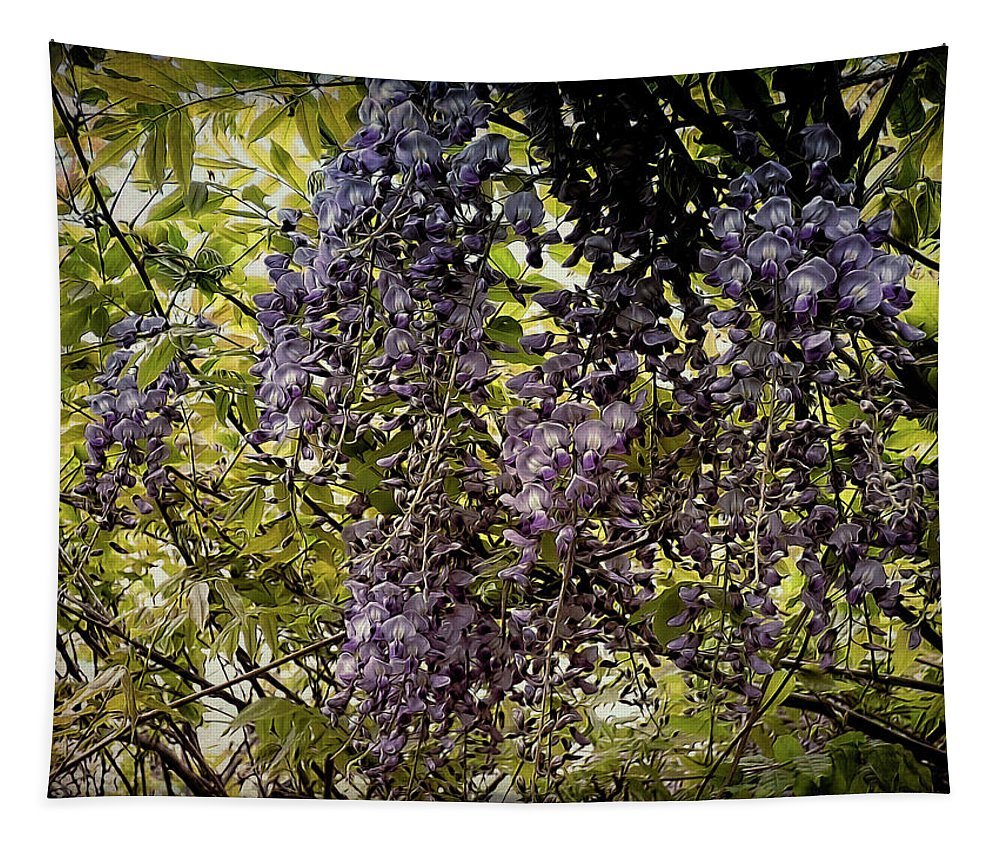Nature Tapestry featuring the photograph Drips And Drops by Leslie Montgomery