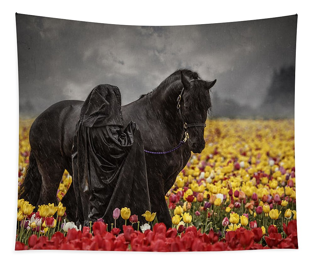Druids In The Fields Tapestry featuring the photograph Druids In The Fields by Wes and Dotty Weber