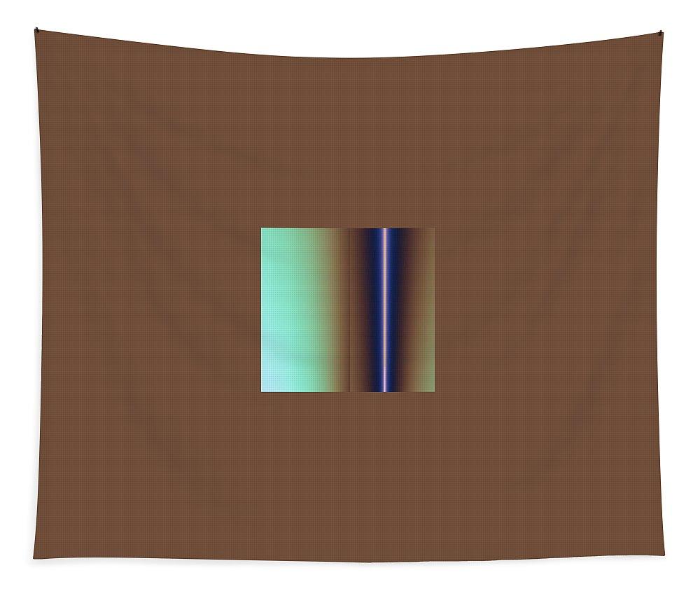 Digital Art Tapestry featuring the digital art Duality IIi by Dragica Micki Fortuna