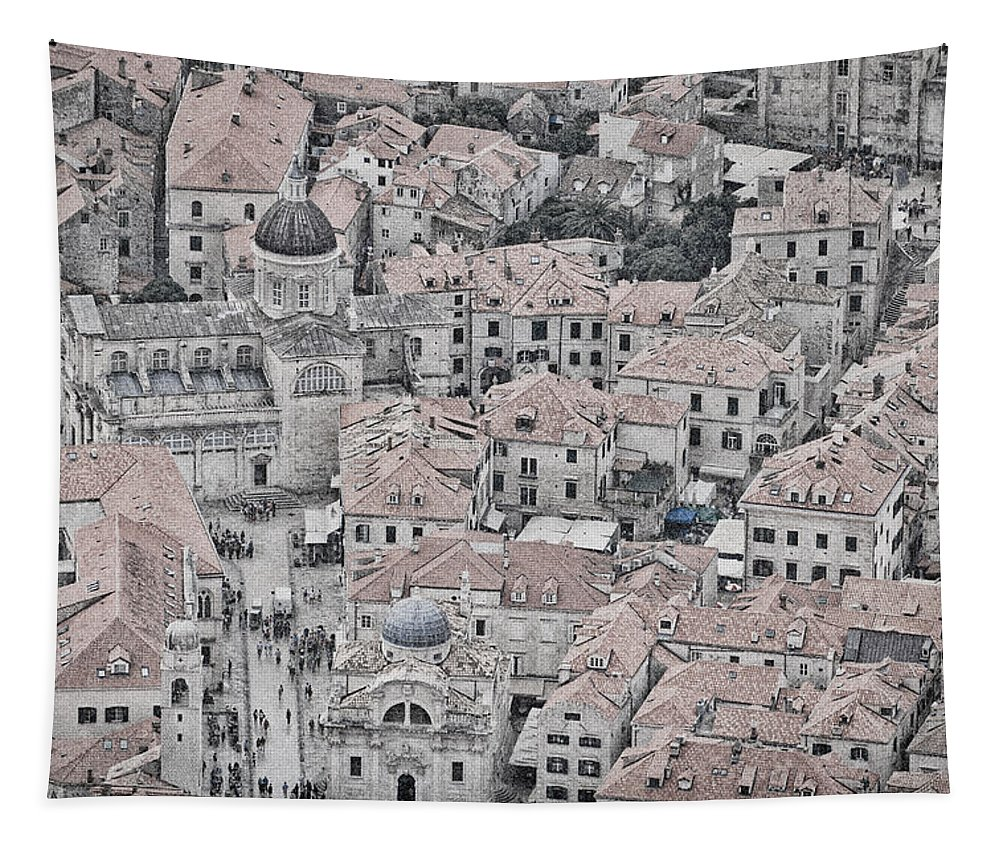 Dubrovnik Tapestry featuring the photograph Dubrovnik Rooftops #2 by Stuart Litoff