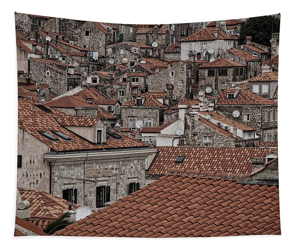 Dubrovnik Tapestry featuring the photograph Dubrovnik Rooftops #3 by Stuart Litoff