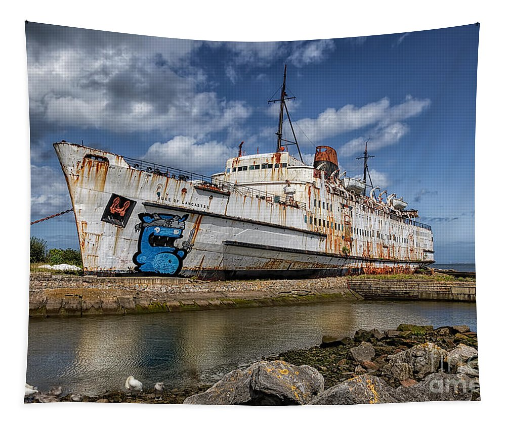 Abandoned Tapestry featuring the photograph Duke Of Lancaster by Adrian Evans