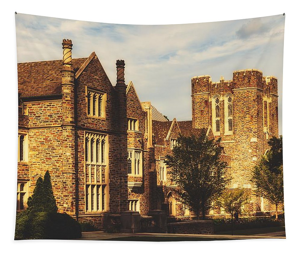 Duke University Tapestry featuring the photograph Duke University Campus by Library Of Congress