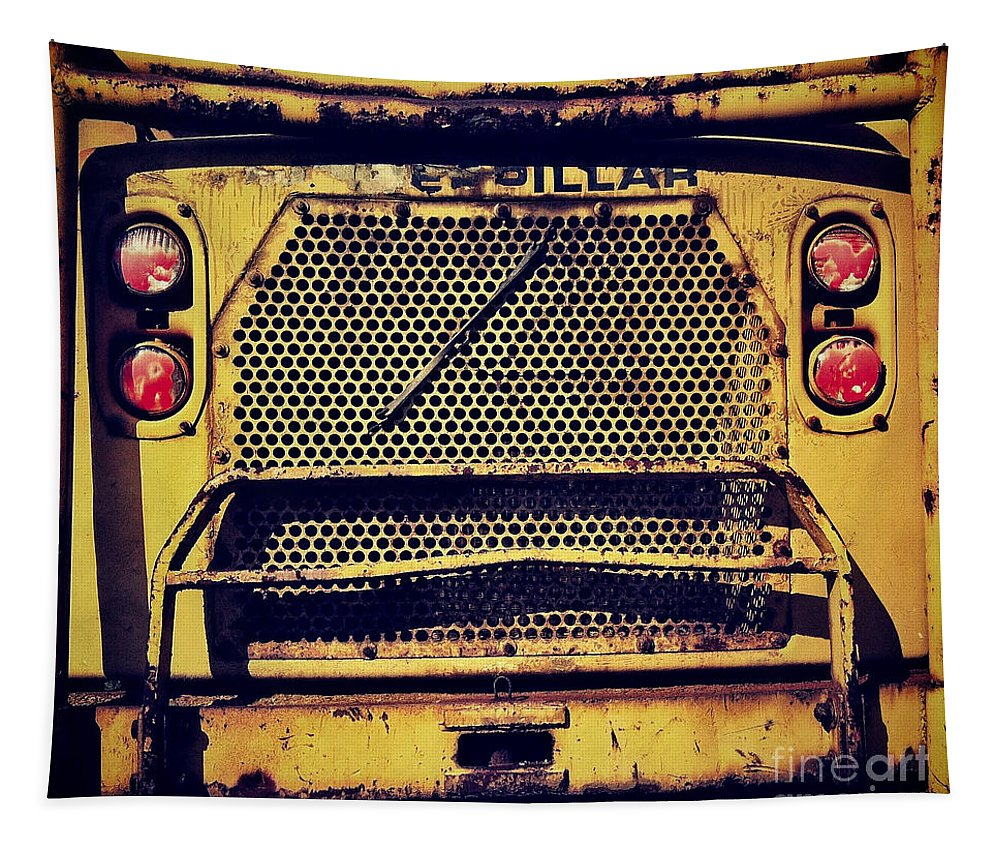 Caterpillar Tapestry featuring the photograph Dump Truck Grille by Amy Cicconi