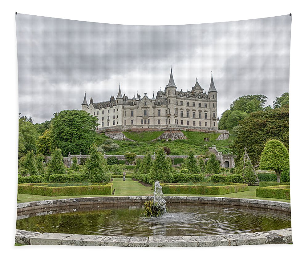 Ancient Tapestry featuring the photograph Dunrobin Castle 1325 by Teresa Wilson
