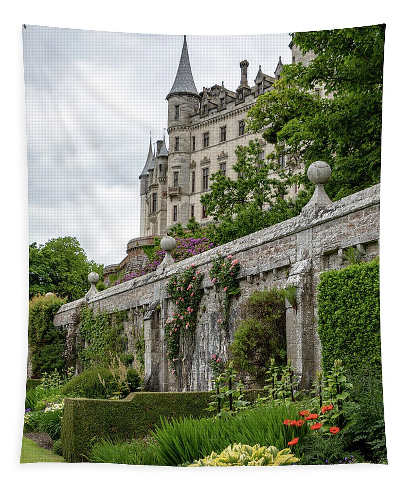 Ancient Tapestry featuring the photograph Dunrobin Castle 1352 by Teresa Wilson