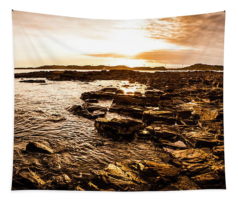Panorama Tapestry featuring the photograph Dynamic Ocean Panoramic by Jorgo Photography - Wall Art Gallery
