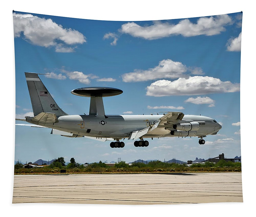 E-3 Sentry Tapestry featuring the photograph E-3 Sentry A W A C S by Mountain Dreams