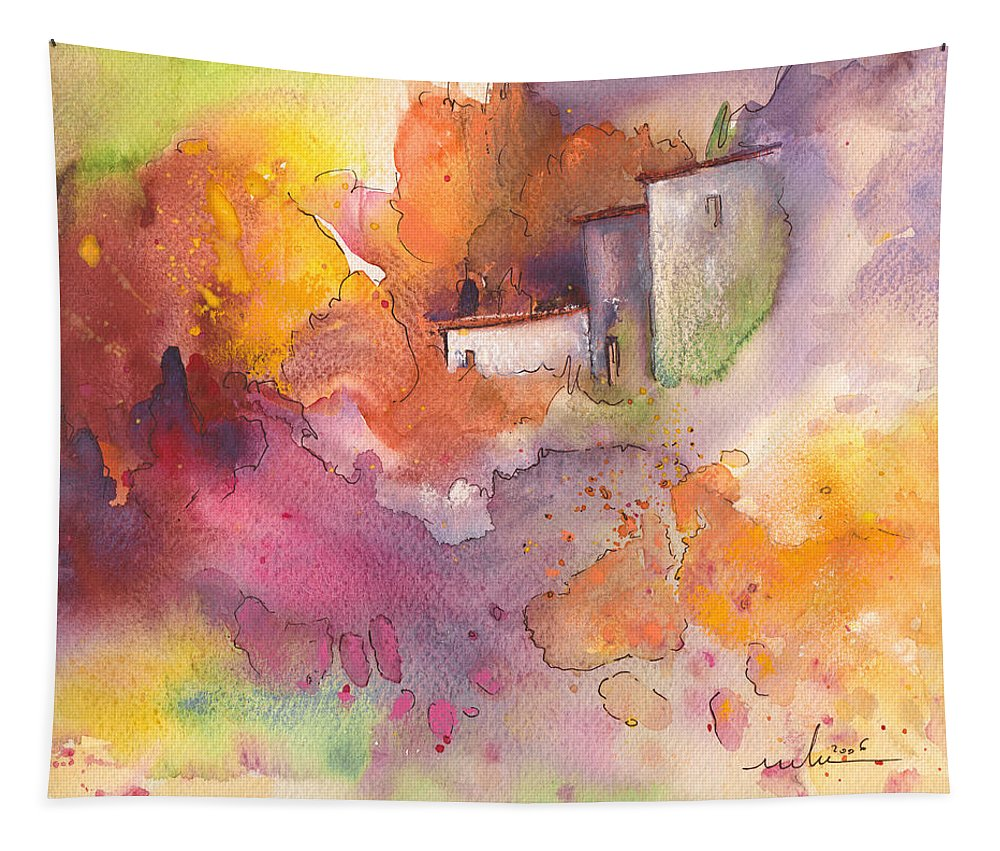 Watercolour Tapestry featuring the painting Early Afternoon 03 by Miki De Goodaboom