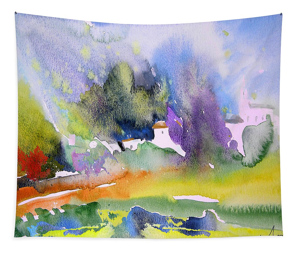 Nature Tapestry featuring the painting Early Afternoon 07 by Miki De Goodaboom