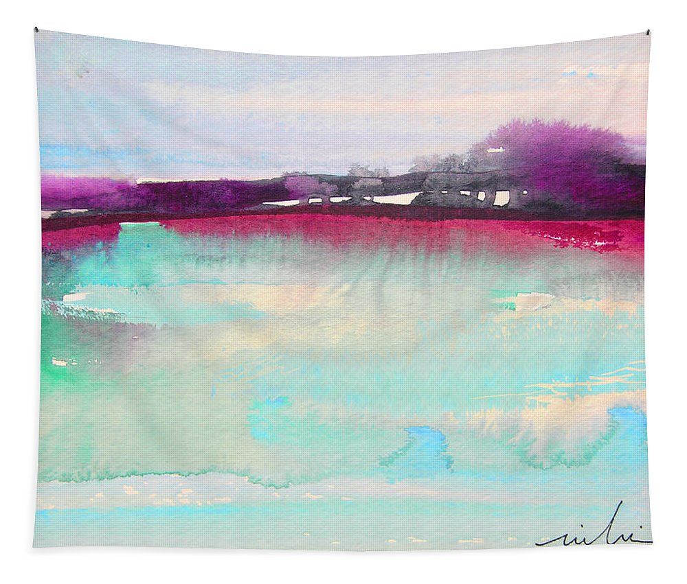 Watercolour Tapestry featuring the painting Early Morning 07 by Miki De Goodaboom