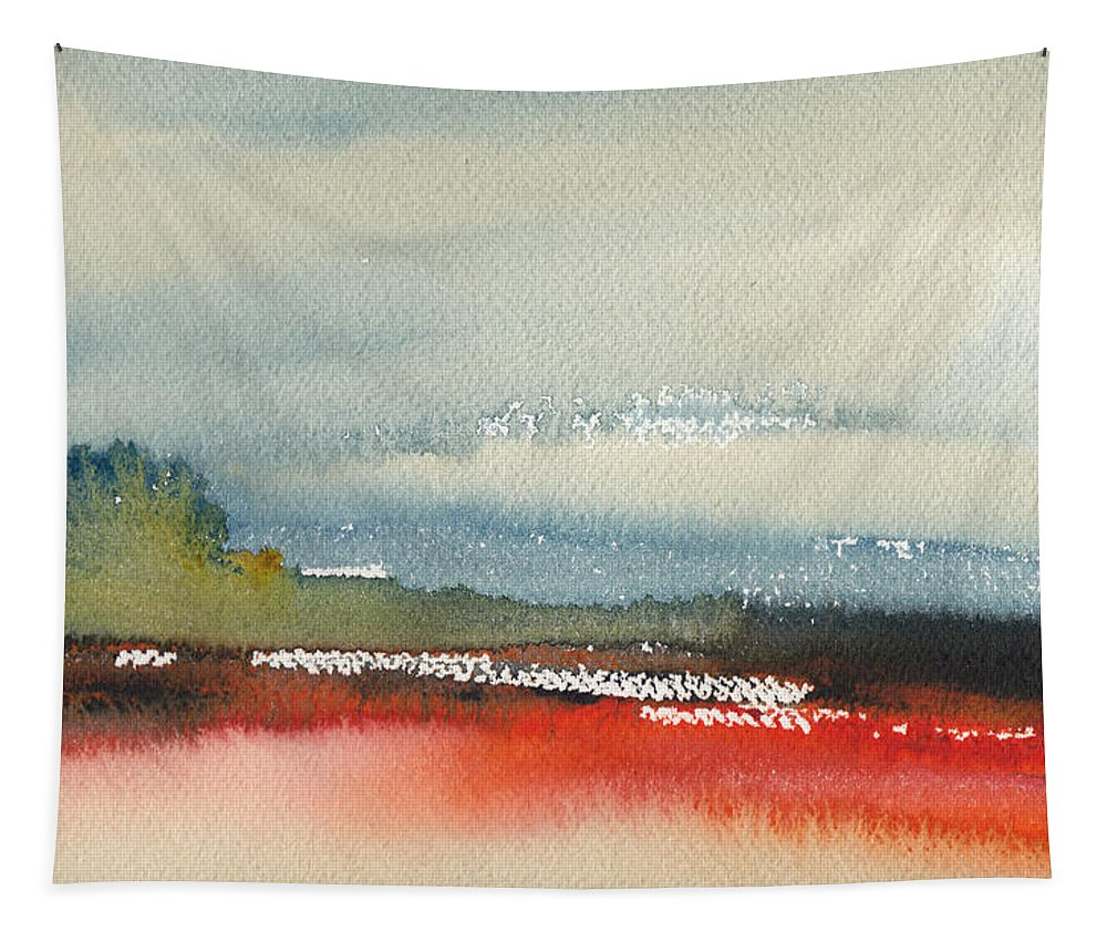 Landscapes Tapestry featuring the painting Early Morning 23 by Miki De Goodaboom