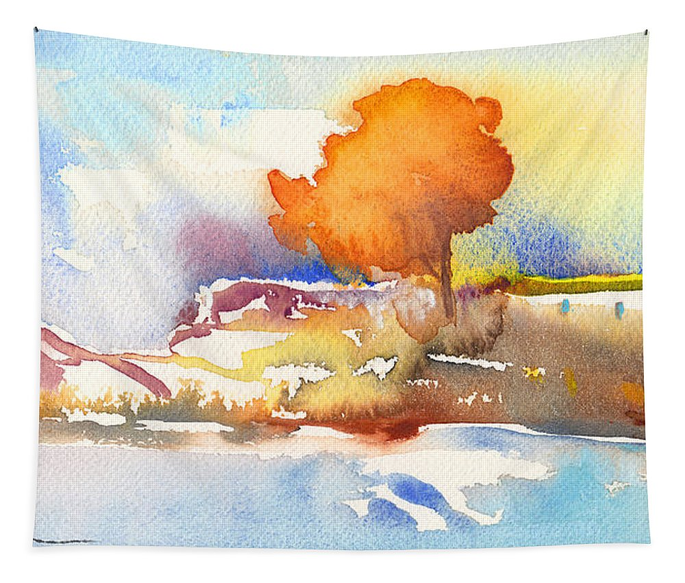 Landscapes Tapestry featuring the painting Early Morning 24 by Miki De Goodaboom