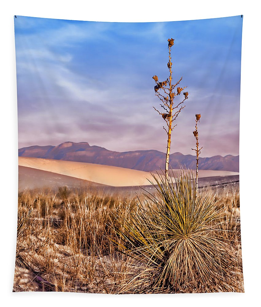 Desert Tapestry featuring the photograph Early Morning Yucca - White Sands - New Mexico by Nikolyn McDonald