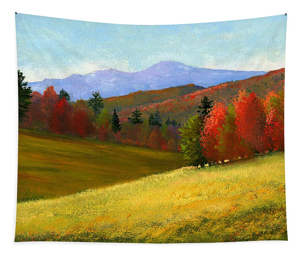 Landscape Tapestry featuring the painting Early October by Frank Wilson