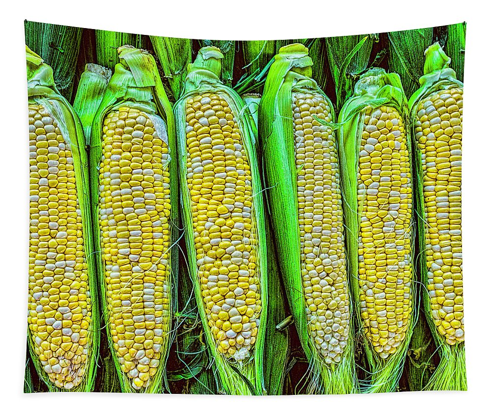 Corn Tapestry featuring the photograph Ears Of Corn by Nick Zelinsky