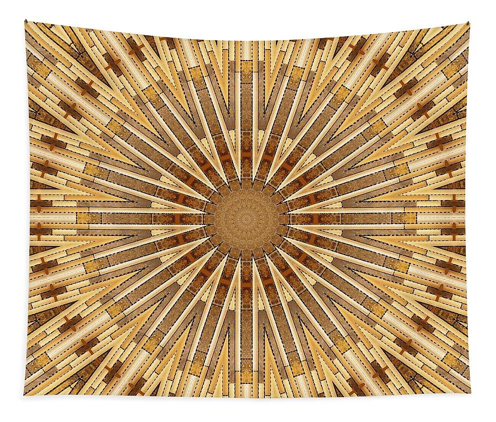 Earth Tones Tapestry featuring the photograph Earth Tones - Mandala by Nikolyn McDonald